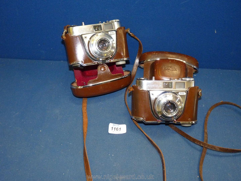 Two Kodak Retinette 1a 35mm Cameras both having Schneider-Kreuznach Reomar 45mm f/2.