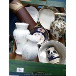 A Royal Winton vase, Royal Worcester forget-me-not flower shaped bowl, floral jardiniere,