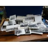 A quantity of black and white reproduction military photographs mostly of 19th century and Indian