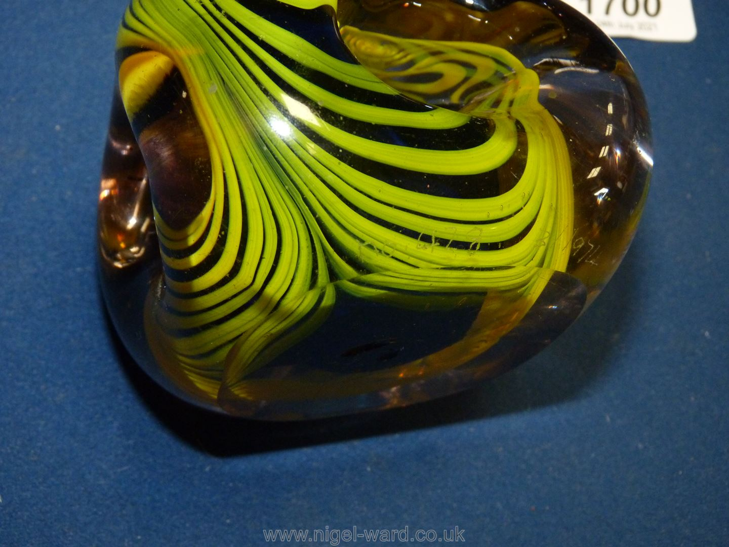 A Karlin Rushbrooke paperweight in yellow and black, - Image 2 of 6
