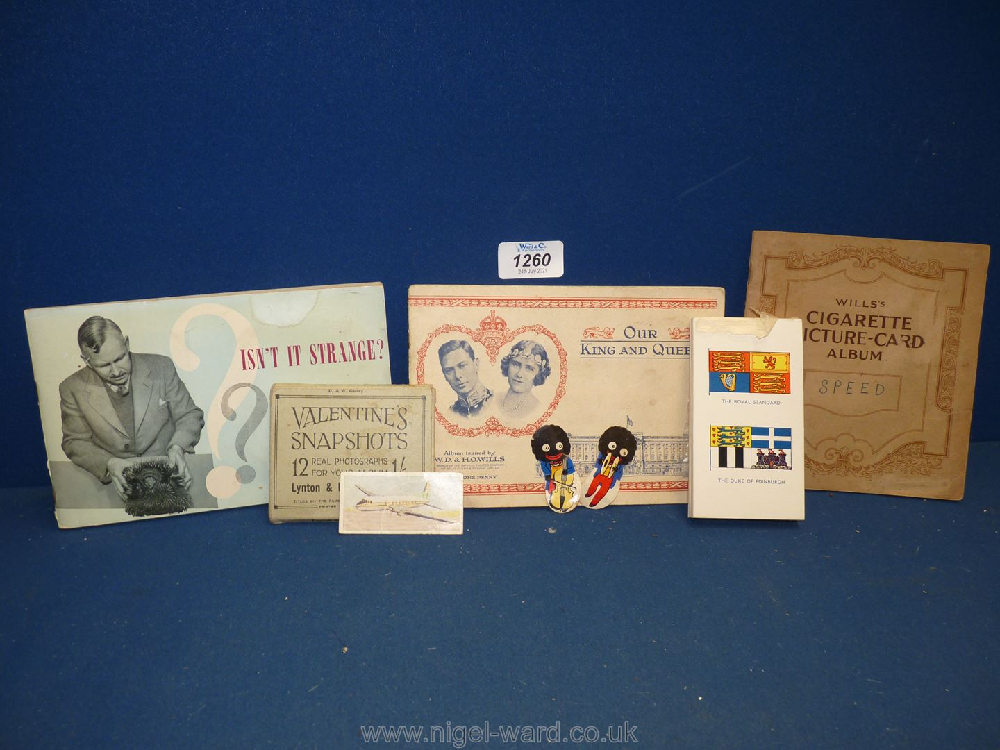 Two Cigarette Card albums, one Wills 'Speed' album, one W.D & H.O.