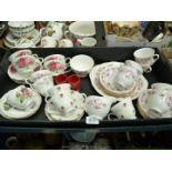 A Royal Osborne part Teaset including six cups, six saucers, six tea plates, bread & butter plate,