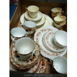 Two part Teasets including Crown Ducal 'Pussy Willow' and S&C together with Queen Anne slop bowl,