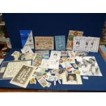 A quantity of football memorabilia including Tottenham Hotspur, cigarette cards, programmes,