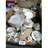 A quantity of china including nine Limoges small gratin dishes for W.