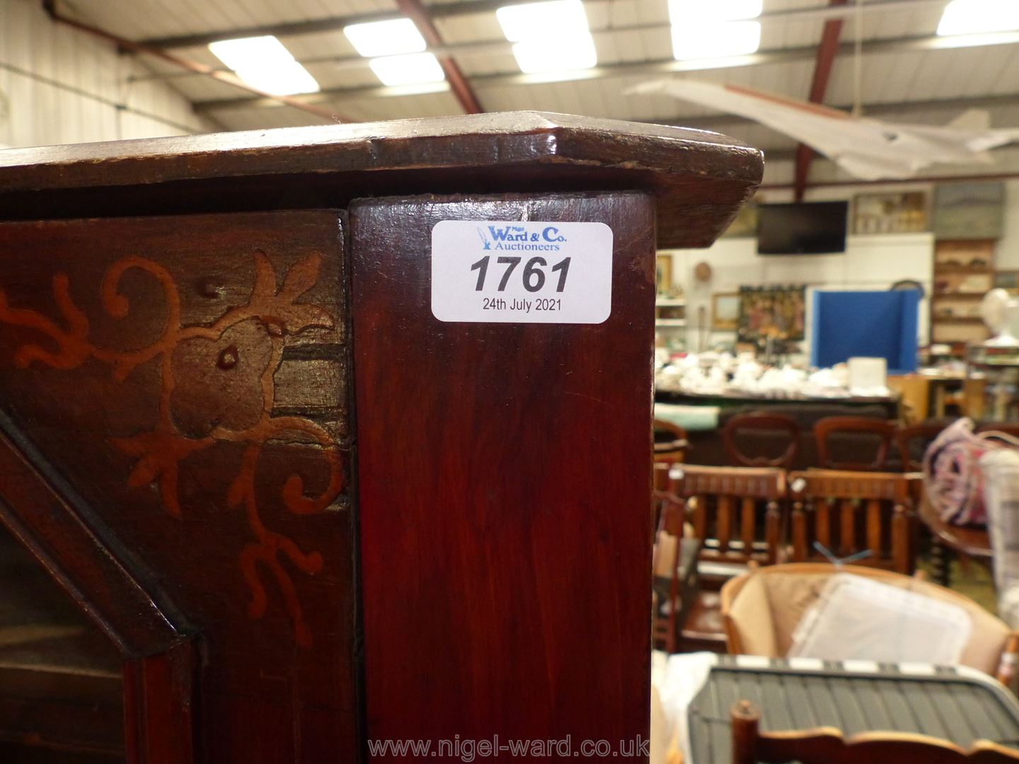 A Mahogany Music Cabinet having inlaid detail to top, 22 3/4'' wide x 14 3/4'' deep x 33 3/4'' high. - Image 2 of 3