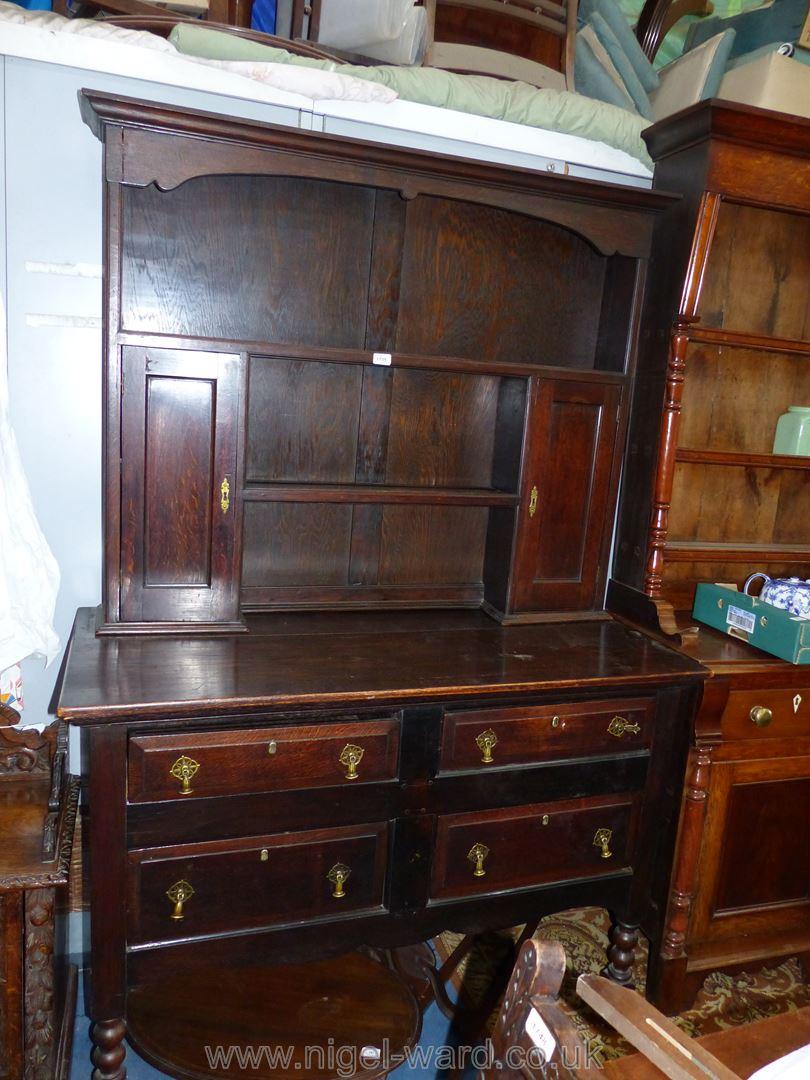 A dark oak Dresser,