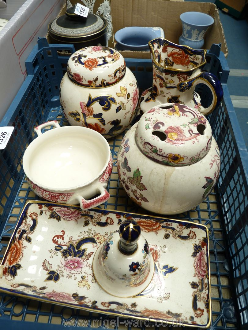 A small quantity of Masons 'Mandelay' china including jug, bell, ginger jar etc, - Image 2 of 2