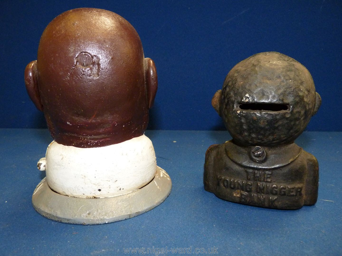 """Two cast iron Money Banks including """"Smiling Sam from Alabama"""". - Image 2 of 2"""