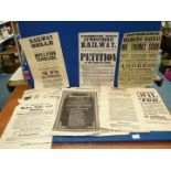 A quantity of reproduction railway themed posters, ideal for framing.