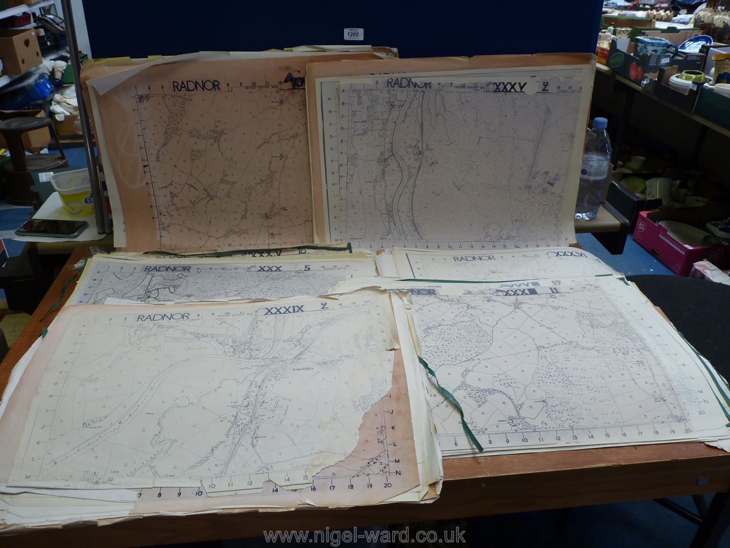A set of large scale Ordnance Survey map sheets, circa 1904-05,
