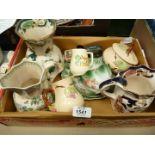 A box of china to include Mason jugs - Paynsley,