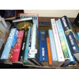 A Box of books to include British Birds, Rugby etc.