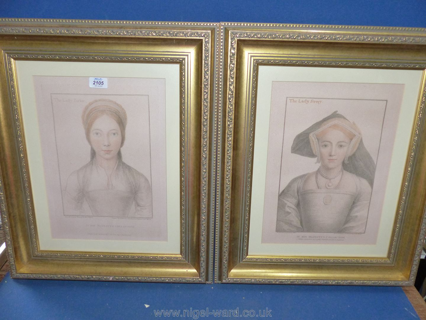 Two furnishing prints after Holbein in good frame.