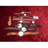 A quantity of gents and ladies wristwatches including Rotary, Sekonda etc.