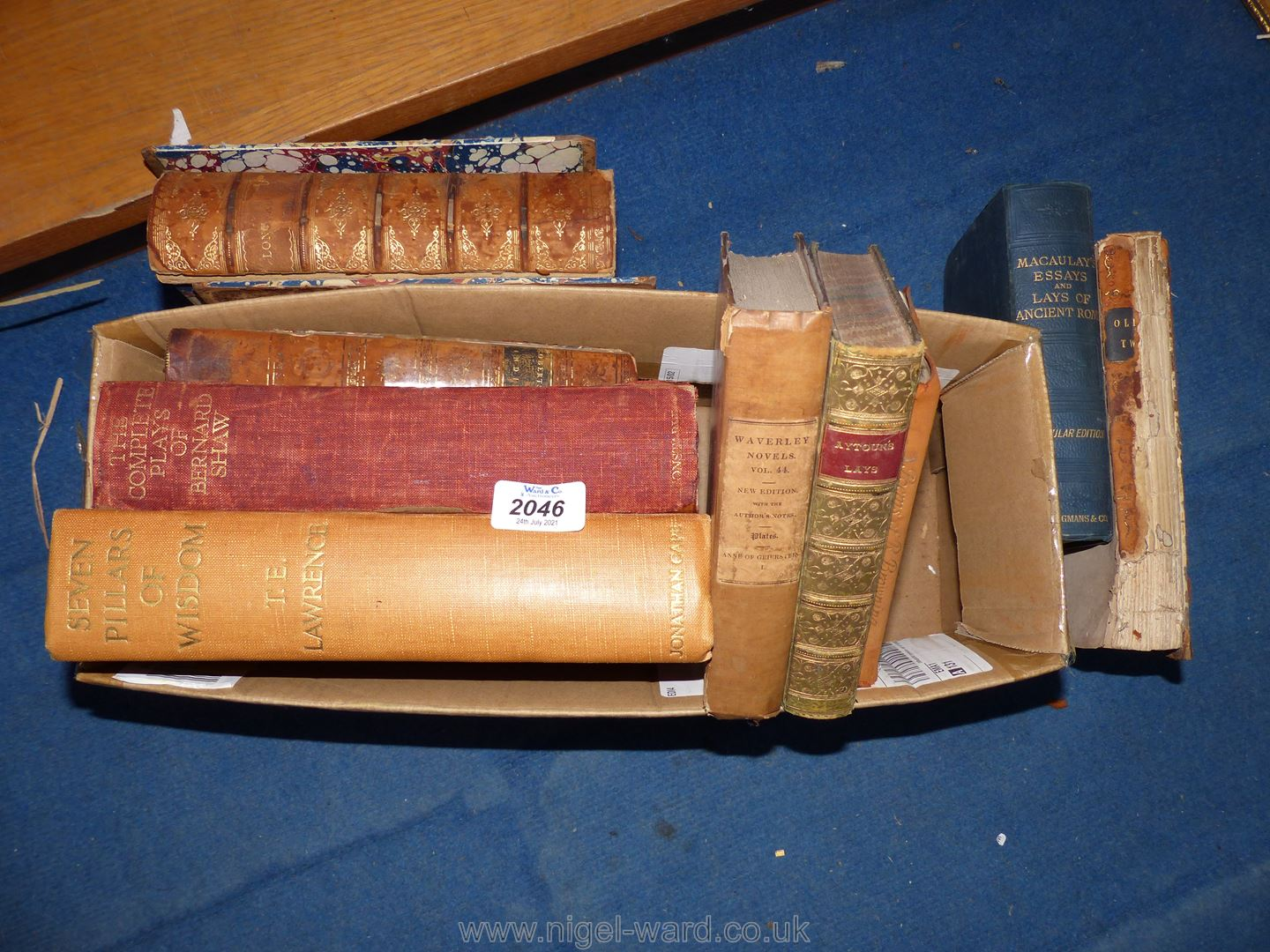 A quantity of books including Longfellow, An Historical Disquisition Concerning India,