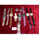 A quantity of gents Watches including three Sekonda, Timex, Avanti, Don, Futura, Omac, etc.