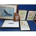 Five framed and glazed prints etc.