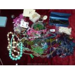 A quantity of Costume Jewellery beads etc.