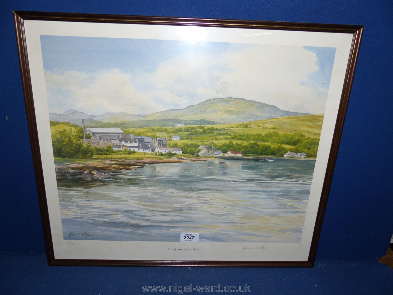 A Ltd. Ed. 429/600 Print by Lynne R. Moore titled Craighouse Isle of Jura.