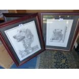 A framed and mounted C.