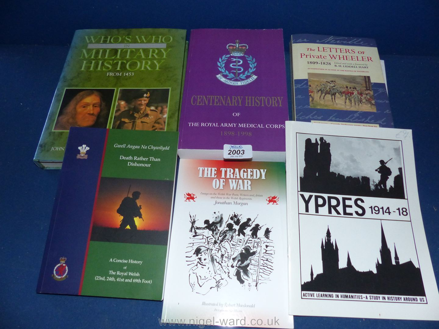 A small quantity of books to include The letters of Private Wheeler,