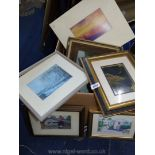 A box of Prints to include Morris Nelson Mabry Mill, Aunt Peggy's Lane 'Bumuda' etc.