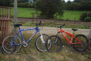 A Chucker GT 16 speed bike and a Barrosa Santa Fe 21 speed bike for repair.