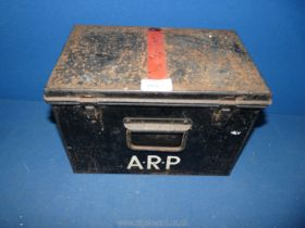 A vintage WWII ARP steel box.