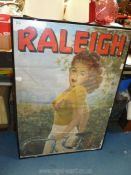 """A vintage Raleigh print/poster (28"""" x 39 1/2"""")."""