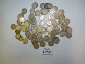Approx. 96 George VI threepence pieces.