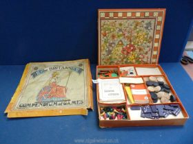 A boxed 'Britannia: Compendium of games 22 games by Chad Valley.