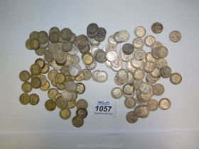 Approx. 150 George V threepence pieces.