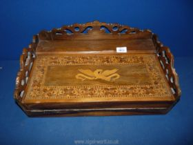 """A Victorian writing slope, a/f. 19 1/4"""" x 12 1/2"""" x 7""""."""