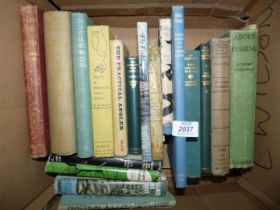 A box of fishing books to include; Salmon & Trout by R.N Stewart, The Practical Angler by W.