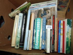 A box of books to include; The Fred Dibnah Story,
