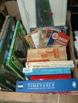 A quantity of books on railways to include; January 1951 Bradshaw's British Railways Guide,