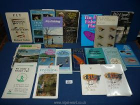 A quantity of books on fly fishing to include; The Hardy Books of Flies,