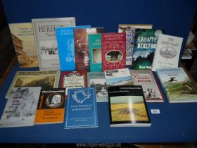 A box of books to include; The Hidden Places of Hereford and Worcester, Herefordshire Curiosities,
