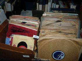 Two boxes of records to include 78's including; Thomas Fats Walter, Larry Cross,