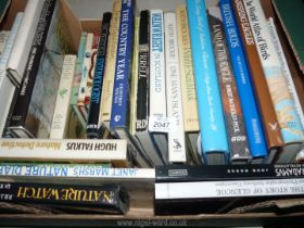 A quantity of books to include; Wainwright in Scotland, Land of The Eagle, One Man's Island, etc.