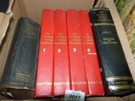 Five volumes of The Modern Motor Engineer by Arthur W.