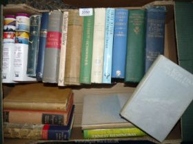 A quantity of books to include; Seven Pillars of Wisdom, The Old Man and The Sea by Hemingway,
