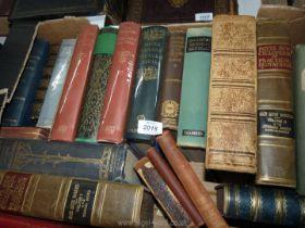 A quantity of books to include; Note books of Leonardo Da Vinci, Chambers Technical Dictionary,