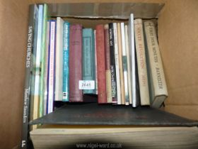 A box of books to include; Remembering Mac by Jan Thomas, The Gale of Heaven by Richard Yardley,