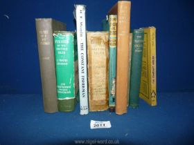 Nine books on fishing to include; The Tale of a Wye Fisherman, The Fishes of the British Isles,