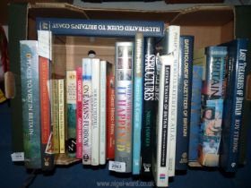 A box of books to include; One Mans Furrow, Complete Book of Card Games, Wildlife Photography, etc.