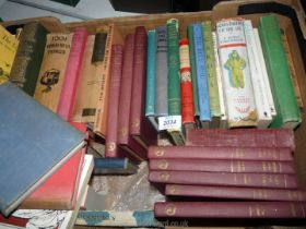 A box of books to include; Adventures of the Air by E.
