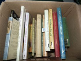 A box of books to include; Tunnicliffe's Countryside, The Peregrine Sketchbook, A Shropshire Lad,
