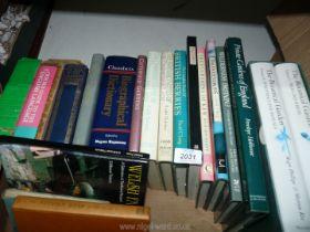 A box of books on gardening, etc.